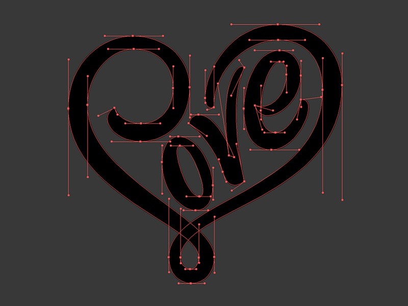 Loveheart beziers dribbble