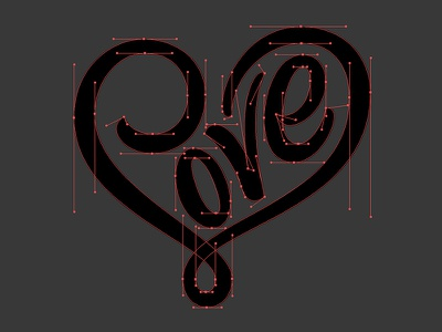 Love Béziers process thevectormachine vector vectormachine beziers heart love hashtaglettering handlettering lettering letterfarm