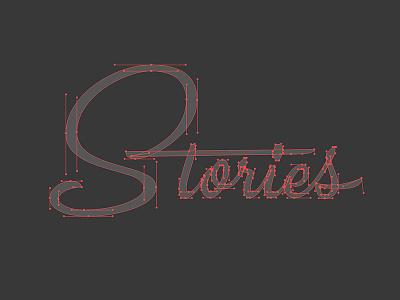 Bézier Stories process thevectormachine vector vectormachine beziers hashtaglettering handlettering lettering