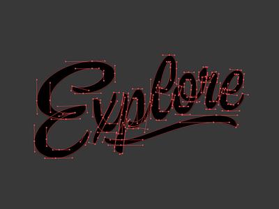 Explore Bézier Curves creativesouth explore process hashtaglettering handlettering lettering