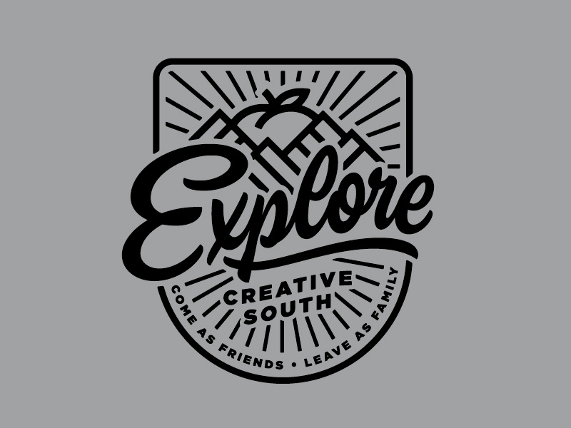 Creative South Explore Badge badge creativesouth love hashtaglettering handlettering lettering