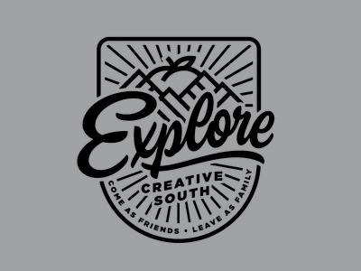 Creative South Explore Badge badge creativesouth love hashtaglettering handlettering lettering