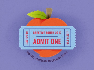 Creative South Ticket Giveaway ticket peach creativesouth e3 elementthree