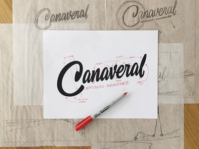 Type Hike - Canaveral Vector Marckup canaveral typehike thevectormachine vectormachine handlettering lettering process