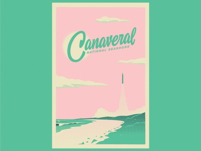 Type Hike Canaveral National Seashore hashtaglettering handlettering lettering beach shuttle canaveral florida illustration typehike