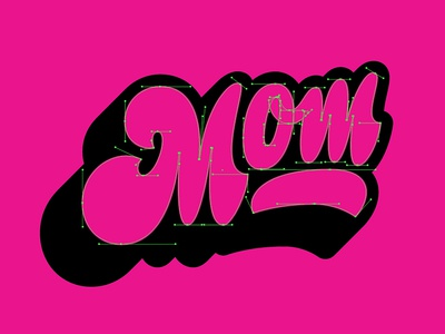 Droppin' Mom Béziers mothersday handlettering thevectormachine vectormachine mom letterfarm lettering
