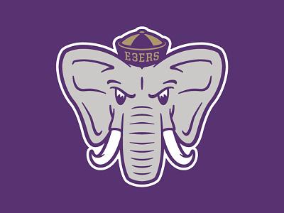 2017 Elephant 3 illustration elephant elementthree elephantthree aiga kickball mascot process e3ers vectormachine