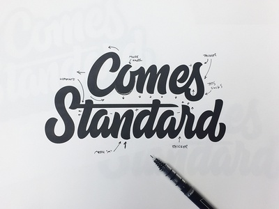 Comes Standard Markup elementthree markup process thevectormachine vectormachine handlettering lettering