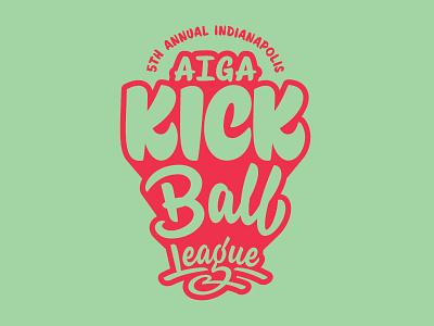 2017 AIGA Indy KICK Ball League kickball aiga hashtaglettering handlettering lettering