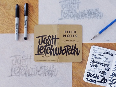Field Notes Letters - Josh Letchworth fieldnotes fieldnoteslettering handlettering handtype hashtaglettering lettering joshletchworth