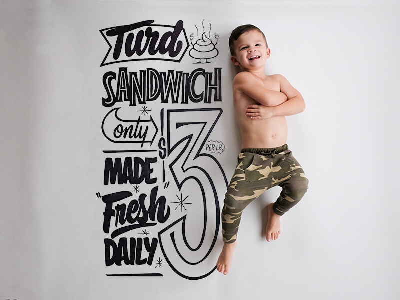 Nixon Grows Up - 3 years family nixongrowsup nixon sharpie signpainter hashtaglettering handlettering lettering