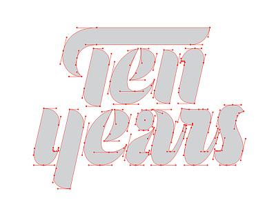 Mama's Sauce Ten Years Béziers mamassauce beziers vector vectormachine process hashtaglettering handlettering lettering