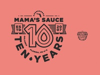 Mama's Sauce 10 years - Main Badge