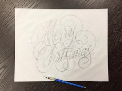 Merry Christmas Rough Sketch