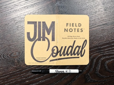 Field Notes Letters - Jim Coudal sharpie fieldnotesletters fieldnotes hashtaglettering handlettering lettering