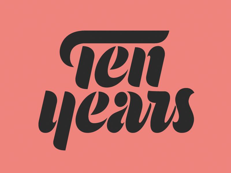 Mama's Sauce Ten Years Script tenyears mamassauce thevectormachine vectormachine hashtaglettering handlettering lettering