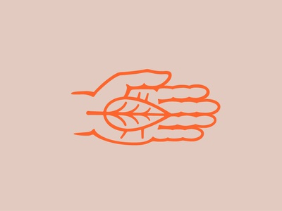 Parks Volunteering Icon leaf hand volunteering icon elementthree
