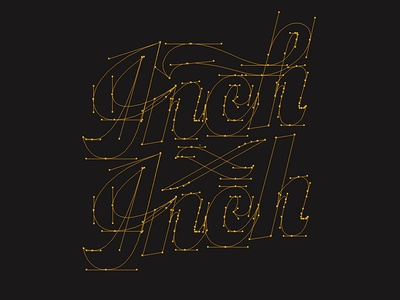 Inch x Inch Script Beziers thevectormachine vectormachine real thread inch x inch hashtaglettering handlettering lettering