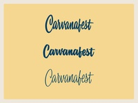 Carvanafest Wordmarks