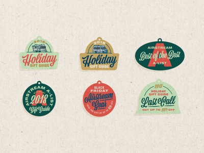 Airstream Black Friday Promotion typography gift tags black friday airstream design illustration elementthree vector