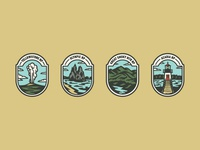 National Parks Badges Color