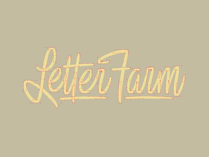 Farming Beziers vector process beziers letterfarm handtype thevectormachine vectormachine handlettering hashtaglettering lettering