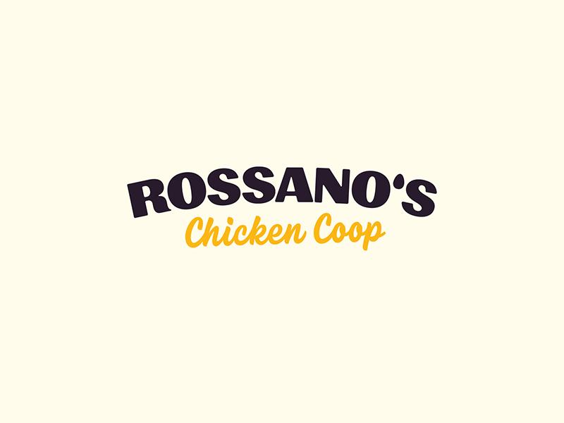 Rossano's Chicken Coop - Secondary Logo egg chicken branding vector logo handtype vectormachine handlettering hashtaglettering lettering