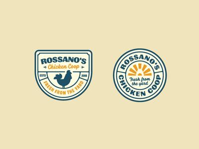 """Rossano""""s Chicken Coop Badges badge design badge logo handtype vectormachine handlettering hashtaglettering lettering"""