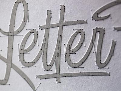LetterFarm Beziers Letterpress Print