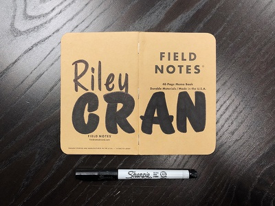 Field Notes Letters - Riley Cran fieldnotes field notes riley cran handtype vectormachine handlettering hashtaglettering lettering
