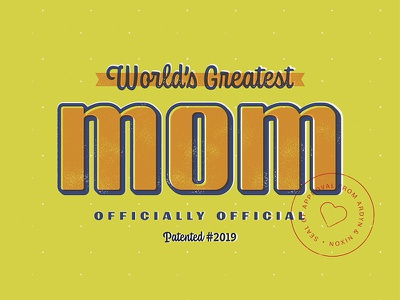 Mother's Day 2019 mothers day badge design badge