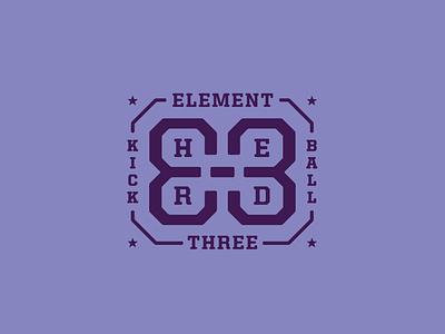 Unused Badge aiga indy kickball aiga e3 element three badge logo badge design badge