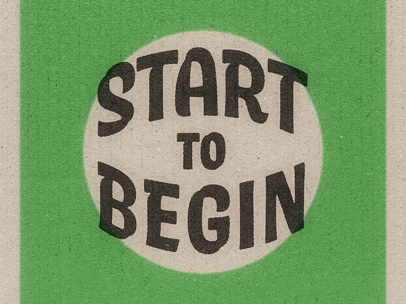 Start to Begin badge design badge vintage type