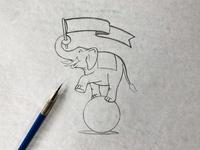 2019 Elephant Three Sketch