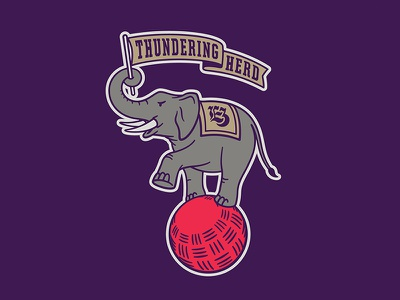 2019 Elephant 3 mascot kickball elephant element three illustration vector