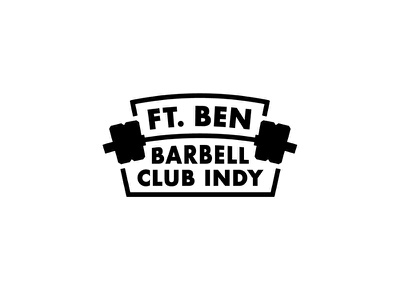 Ft. Ben Barbell Club badge design badge logo barbell crossfit