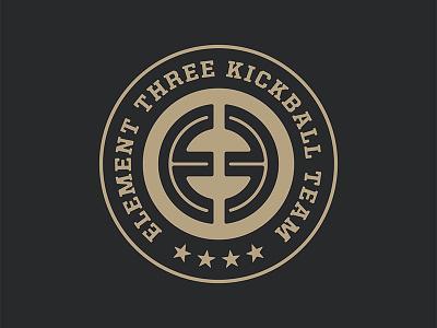 2019 Kickball Badges kickball badge logo element three e3ers e3 badge design badge