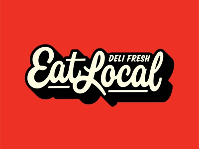Eat Local eat handtype vectormachine handlettering hashtaglettering lettering