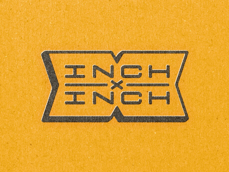 INCHxINCH X Badge badge design badge inch x inch inchxinch handtype process vectormachine handlettering hashtaglettering lettering