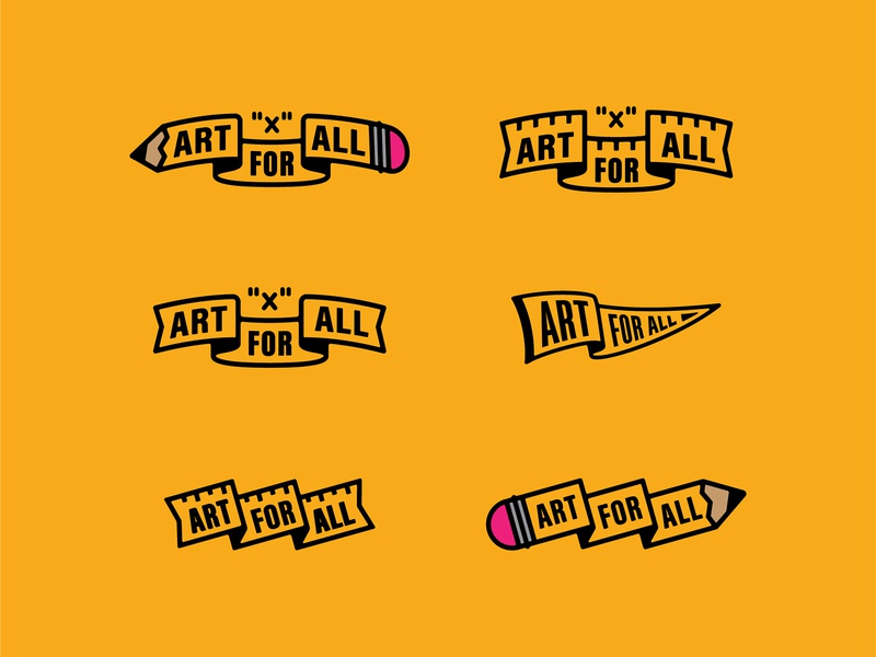 Art For All Banners ilustration ribbons banner design art for all ruler pencil banner inch x inch