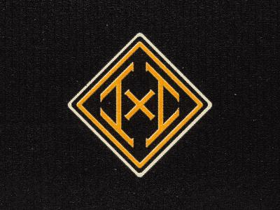 INCHxINCH Triangle Badge inch x inch badge logo badgedesign badge design badge