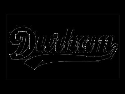 Durham Beziers durham brand co durham thevectormachine vector handtype process vectormachine handlettering hashtaglettering lettering