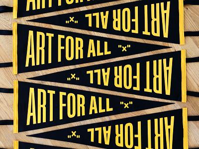 Art For All Pennants art for all penant inch x inch handlettering hashtaglettering lettering