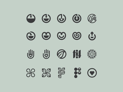 Unused process logo mark icons logodesign logo design logo