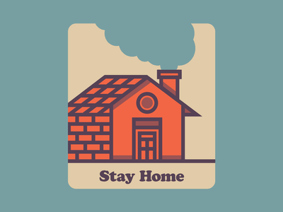 Stay Home cooper black social distancing covid19 illustration vector stay home
