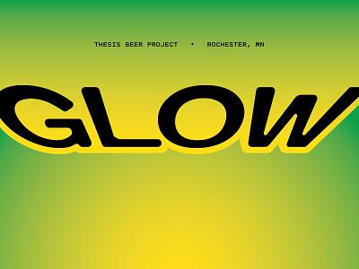 Glow unusually small type puke gradient pitch sans
