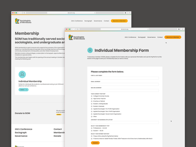 Sociologists of Minnesota — Membership Pages webflow web design minnesota sociology