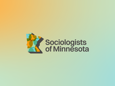 Sociologists of Minnesota — Logo bubbles gradients switzer logo branding minnesota sociology