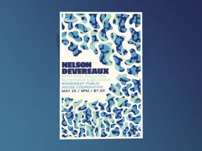 Nelson Devereaux Gig Poster