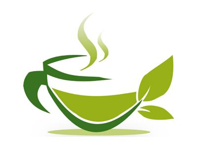 Tea cup logo logo mug green cup tea photoshop